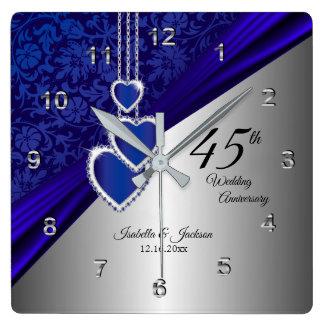 Reloj Cuadrado 45.o/65.o recuerdo del aniversario de boda del