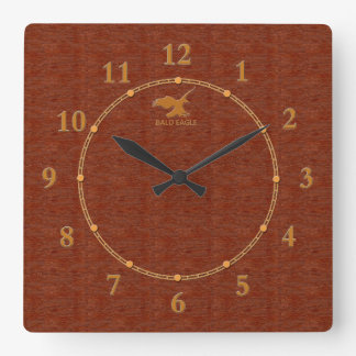 Reloj Cuadrado 4 decorativos de madera rojos una venta moderna