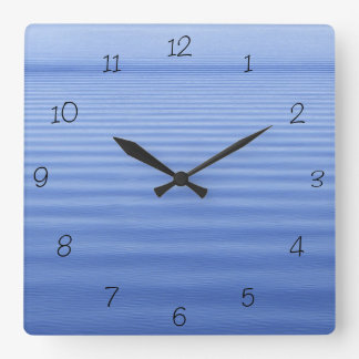 Reloj Cuadrado Agua ondulada azul