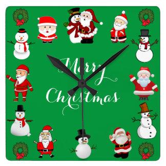 Reloj Cuadrado Alegría del navidad
