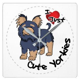 Reloj Cuadrado Amo mi perro divertido y lindo adorable feliz de