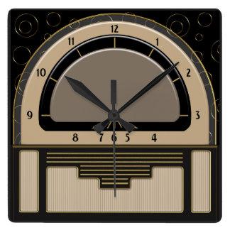 Reloj Cuadrado Art déco Radiola (Latte, Greige, negro, oro)