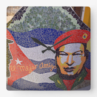 Reloj Cuadrado Arte del cubano de La Habana Cuba