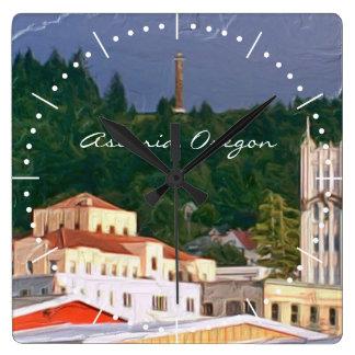 Reloj Cuadrado Astoria Oregon