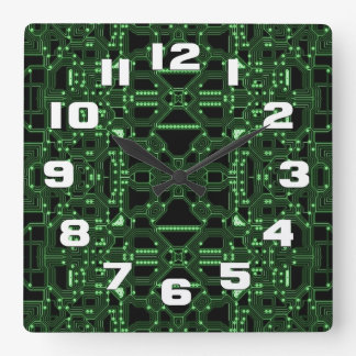 Reloj Cuadrado Automatizado