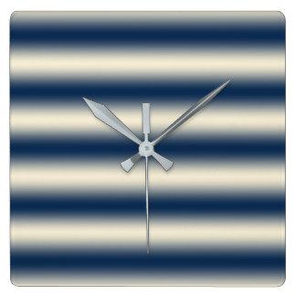 Reloj Cuadrado Azules marinos a la pendiente amarilla arenosa