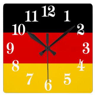Reloj Cuadrado Bandera de Alemania o de Deutschland