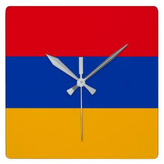 Reloj Cuadrado Bandera de Armenia