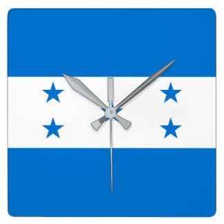 Reloj Cuadrado Bandera de Honduras