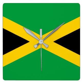 Reloj Cuadrado Bandera de Jamaica