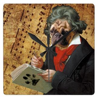 Reloj Cuadrado Barkthoven - el barro amasado de Beethoven