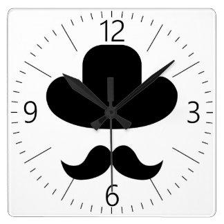 Reloj Cuadrado Bigote y gorra