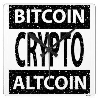 Reloj Cuadrado Bitcoin Altcoin Crypto