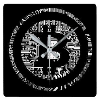 Reloj Cuadrado Bitcoin - el Internet del dinero