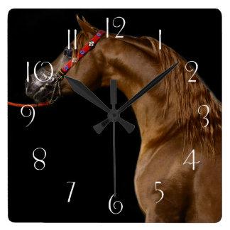 Reloj Cuadrado Caballo árabe