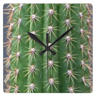 Reloj Cuadrado Cactus