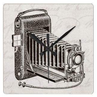 Reloj Cuadrado Cámara del vintage - fotografía antigua de las
