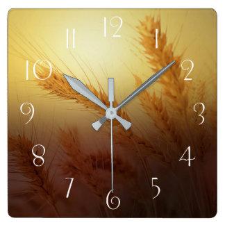 Reloj Cuadrado Campo de trigo