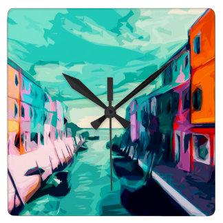 Reloj Cuadrado Canal veneciano