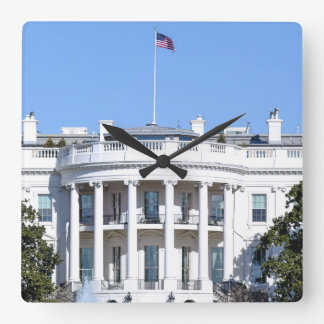Reloj Cuadrado Casa Blanca de los Estados Unidos - Washington DC