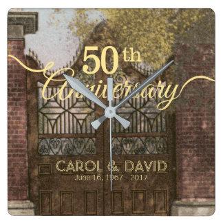 Reloj Cuadrado Celebración del 50.o aniversario. Vintage