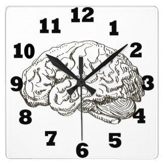 Reloj Cuadrado Cerebro