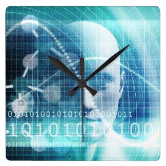 Reloj Cuadrado Científicos de la educación y el convertirse de la
