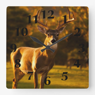 Reloj Cuadrado Ciervos del macho