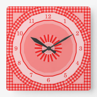 Reloj Cuadrado Controles rojos de la guinga del país