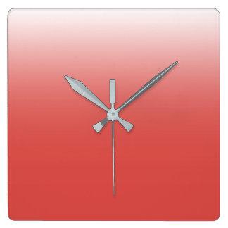 Reloj Cuadrado Cree su propia granadina del | al blanco