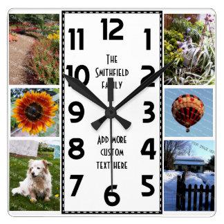 Reloj Cuadrado Cree su propio collage de la foto de Deco 6