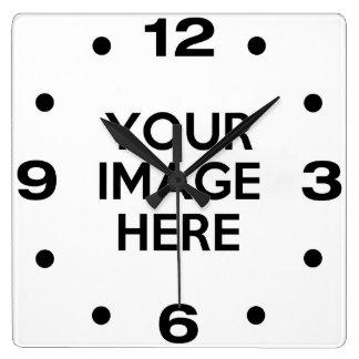 Reloj Cuadrado Cree su propio personalizado