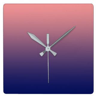 Reloj Cuadrado Cree su propio rosa de color salmón del | a la