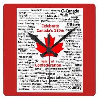 Reloj cuadrado de Canadá 150