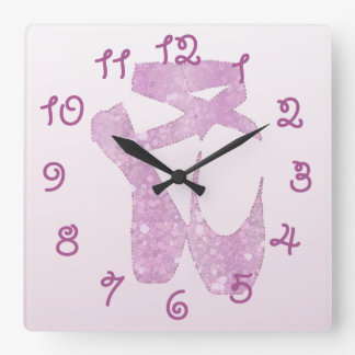Reloj Cuadrado deslizadores rosados