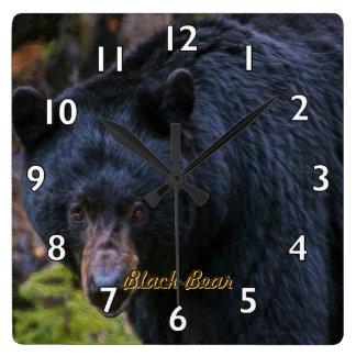 Reloj Cuadrado Dignidad del oso negro
