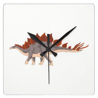 Reloj Cuadrado Dinosaurio