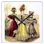 Reloj Cuadrado Diseño del vintage de las señoras del Victorian