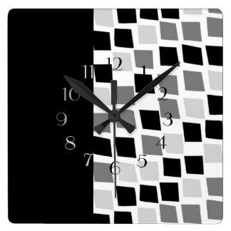 Reloj Cuadrado Ébano y marfil