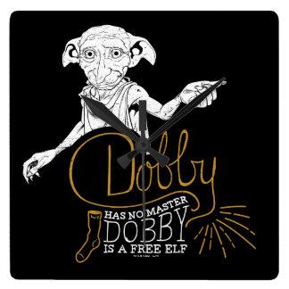 Reloj Cuadrado El Dobby de Harry Potter el | no tiene ningún amo