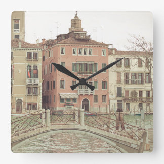 Reloj Cuadrado El domingo por la mañana en Venecia