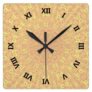 Reloj Cuadrado El elemento de la TIERRA contornea el modelo