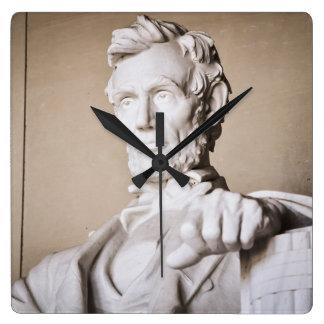 Reloj Cuadrado El Lincoln memorial en Washington DC