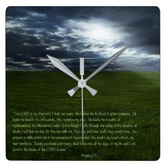 Reloj Cuadrado El SEÑOR es mi pastor