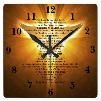 Reloj Cuadrado Escritura de la biblia de rey James Version Psalm