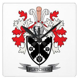 Reloj Cuadrado Escudo de armas del escudo de la familia de