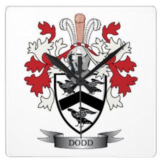 Reloj Cuadrado Escudo de armas del escudo de la familia de Dodd
