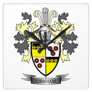 Reloj Cuadrado Escudo de armas del escudo de la familia de Graham