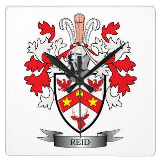 Reloj Cuadrado Escudo de armas del escudo de la familia de Reid