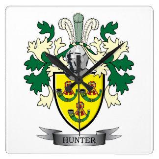Reloj Cuadrado Escudo de armas del escudo de la familia del